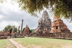 Wat Ratburana in Ayutthaya, Thailand. Royalty Free Stock Image
