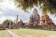 Wat Ratburana en Ayutthaya, Tailandia imagen de archivo libre de regalías