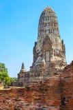 Wat Ratburana Temple in het Historische Park van Ayutthaya, Thailand Stock Afbeeldingen
