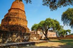 Wat Ratburana Temple in het Historische Park van Ayutthaya, Thailand Royalty-vrije Stock Afbeelding