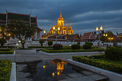 Wat Ratcha Nadda. 's most important Buddhist temple in Thailand Royalty Free Stock Photo