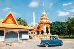Wat Ratchaburana寺庙在阿尤特拉利夫雷斯,泰国 库存照片