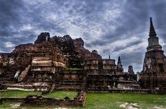 Wat Ratchaburana,阿尤特拉利夫雷斯,泰国,东南亚 图库摄影