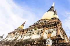 Wat Ratchaburana,阿尤特拉利夫雷斯,泰国,东南亚 库存照片