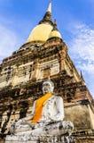 Wat Ratchaburana,阿尤特拉利夫雷斯,泰国,东南亚 库存图片