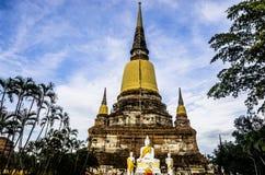 Wat Ratchaburana,阿尤特拉利夫雷斯,泰国,东南亚 免版税库存照片