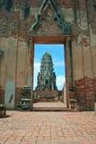 Wat ratchaburana Lizenzfreies Stockfoto