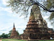 Wat Ratchaburana Ayutthaya, Thailand royaltyfria bilder
