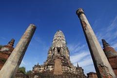 Wat Ratchaburana em Ayutthaya, Tailândia Foto de Stock