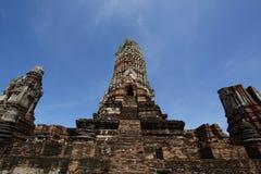 Wat Ratchaburana em Ayutthaya, Tailândia Imagens de Stock