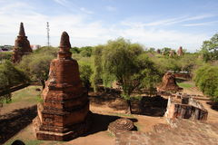 Wat Ratchaburana en Ayutthaya, Tailandia Fotografía de archivo