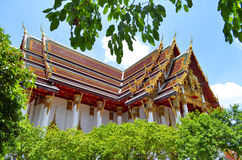 Wat Ratchaburana Ratchaworawihan in Bangkok lizenzfreies stockbild