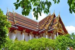 Wat Ratchaburana Ratchaworawihan w Bangkok Obraz Royalty Free