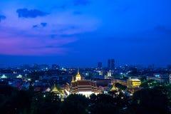 Wat Ratchanadda en Bangkok Imagenes de archivo