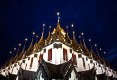 Wat Ratchanadda, Loha Prasat, Tajlandzka architektura Obraz Royalty Free