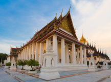 Wat Ratchanadda, Loha Prasat and Traditional Thai pavilion Royalty Free Stock Images