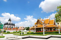 Wat ratchanadda. Mwtallic castle and Wat Ratchanadda, the great place for tourist in Bangkok Royalty Free Stock Photos