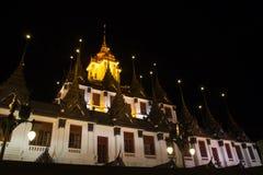 Wat Ratchanadda at night time Stock Image
