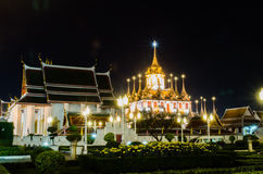 Wat Ratchanaddaram Royaltyfri Bild