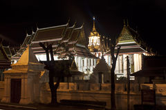 Wat Ratchanaddaram and Loha Prasat Stock Photography