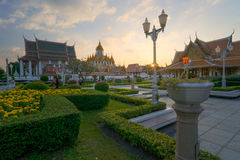 Wat Ratchanaddaram and Loha Prasat, Landmark of Bangkok city, Th Stock Images