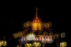 Wat Ratchanaddaram and Loha Prasat Metal Castle Stock Photography
