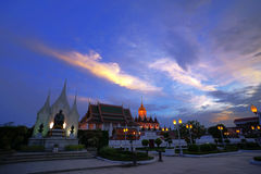 Wat Ratchanaddaram and Loha Prasat Metal Palace in Bangkok ,Thai Royalty Free Stock Images
