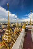 Wat Ratchanaddaram and Loha Prasat Metal Palace in Bangkok ,Thai Stock Image