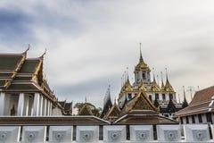 Wat Ratchanaddaram and Loha Prasat Metal Palace in Bangkok ,Thai Stock Images