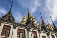 Wat Ratchanaddaram and Loha Prasat Metal Palace in Bangkok ,Thai Royalty Free Stock Photography