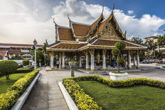 Wat Ratchanaddaram and Loha Prasat Metal Palace in Bangkok ,Thai Stock Photo