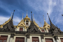 Wat Ratchanaddaram and Loha Prasat Metal Palace in Bangkok ,Thai Royalty Free Stock Photo