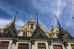 Wat Ratchanaddaram and Loha Prasat Metal Palace in Bangkok ,Thai Royalty Free Stock Photo