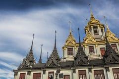 Wat Ratchanaddaram and Loha Prasat Metal Palace in Bangkok ,Thai Stock Image