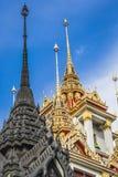 Wat Ratchanaddaram and Loha Prasat Metal Palace in Bangkok ,Thai Royalty Free Stock Images