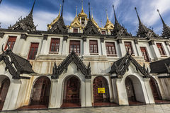 Wat Ratchanaddaram and Loha Prasat Metal Palace in Bangkok ,Thai Stock Images