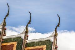 Wat Ratchanaddaram and Loha Prasat Metal Palace in Bangkok ,Thai Stock Photo