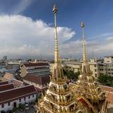 Wat Ratchanaddaram and Loha Prasat Metal Palace in Bangkok ,Thai Royalty Free Stock Image