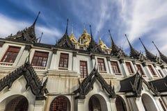 Wat Ratchanaddaram and Loha Prasat Metal Palace in Bangkok ,Thai Royalty Free Stock Photography