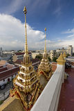 Wat Ratchanaddaram and Loha Prasat Metal Palace in Bangkok ,Thai Royalty Free Stock Photos
