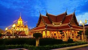 Wat Ratchanaddaram and Loha Prasat Metal Palace Royalty Free Stock Image
