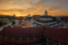 Wat Ratchanaddaram Royalty Free Stock Photo