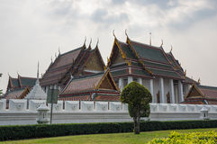 Wat Ratchanaddaram and Loha Prasat Metal Palace Royalty Free Stock Photo