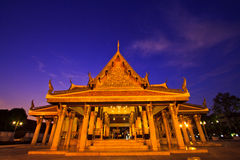 Wat Ratchanaddaram in the sunset Stock Image