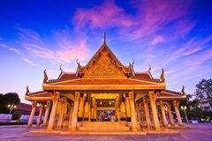 Wat Ratchanaddaram in the sunset Royalty Free Stock Image