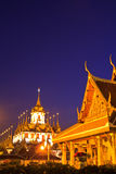 Wat Ratchanaddaram in the sunset Royalty Free Stock Photo