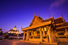 Wat Ratchanaddaram in the sunset Royalty Free Stock Images