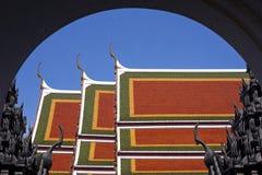 Wat Ratchanaddaram Worawihan Roofs Royalty Free Stock Photography