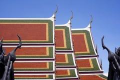 Wat Ratchanaddaram Worawihan Roofs Royalty Free Stock Photo