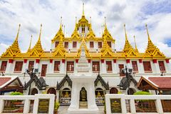 Wat Ratchanatdaram寺庙在曼谷,泰国 免版税图库摄影